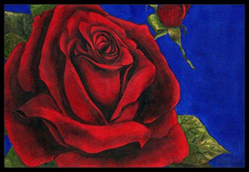 24 x 36 Multicolor Carolines Treasures TMTR0226JMAT Rose by Malenda Trick Indoor or Outdoor Mat