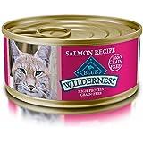 BLUE Wilderness Adult Grain Free Salmon Pate Wet Cat Food 5.5-oz (pack of 24)