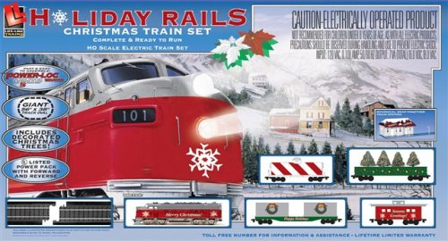 Ho Christmas Train.Amazon Com Life Like Trains Ho Scale Holiday Rails Electric