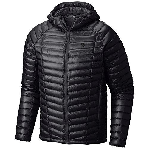 Mountain Hardwear Men's Ghost Whisperer Hooded Down Jacket, Black, L - Ghost Whisperer Down Jacket