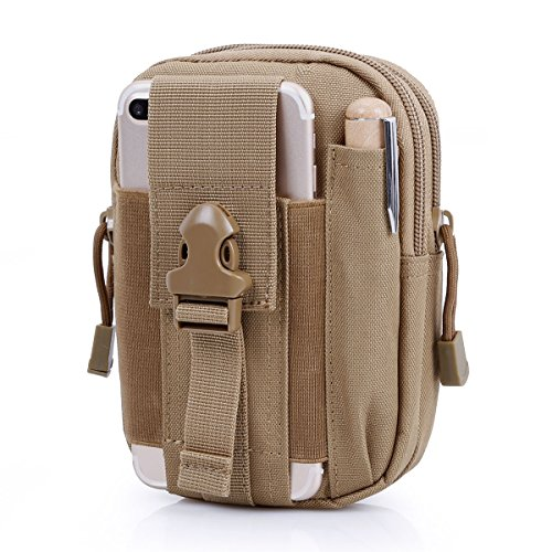 d3a338ae0775 BIENNA Tactical Bag, Small Military Pouch Molle Gear Nylon EDC Utility  Gadget Zipper Waist Pack Wallet with Phone Holster Holder Pocket Cover for  ...