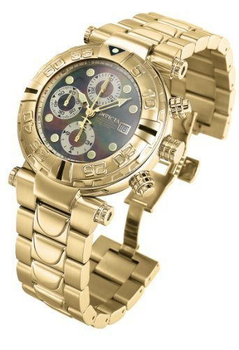Invicta Mens Reserve Subaqua Noma Swiss Made Valijoux 7750 Automatic 18k Gold Watch 4376