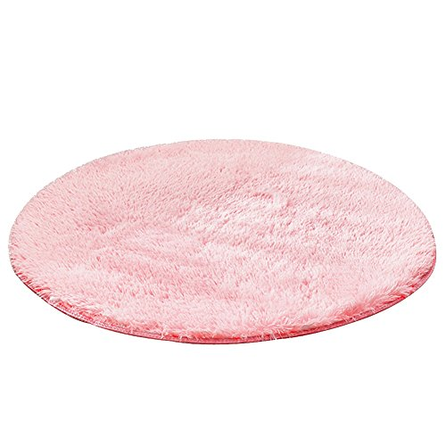 Modern Minimalist Carpet Anti Skid Plush Soft Fluffy Floor: Top Fluffy Rug Circle Pink For 2018
