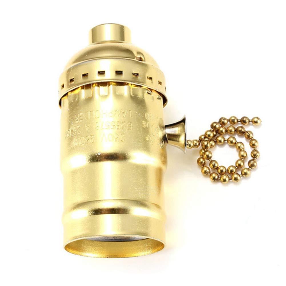 Qiyun Basi lá mpara E26 E27 Portalá mparas Retro Vintage Edison con Interruptor de Cadena para casa Oficina 821ADEled*609T01D_IT