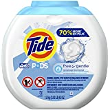 Tide PODS Free & Gentle HE Turbo Laundry Detergent Pacs, 72 Count Tub (Packaging May Vary)