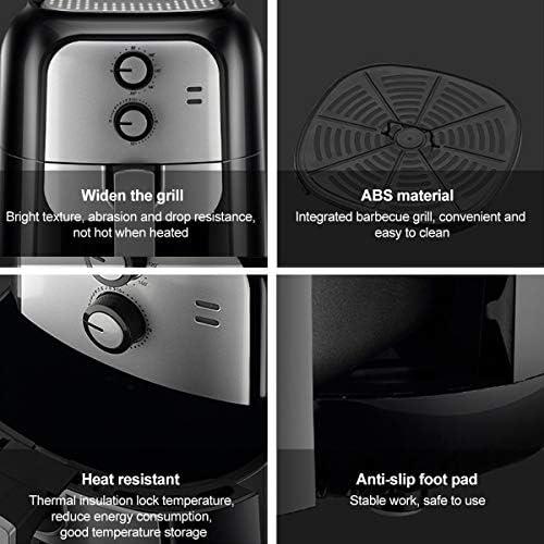 LFANH 6L Air Fryer 1400W Rapide Système d'air De Circulation, 80 ℃ Réglable -200 ℃ 30 Minutes Minuterie Rapide Opération pour Faible Teneur en Gras De Cuisson Chip Fryer