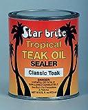 Star Brite Sealer Classic Tropical Teak Oil (16-Ounce)