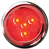 T-H Marine LED-51897-DP Stainless LED Puck Light, 3'' - Red