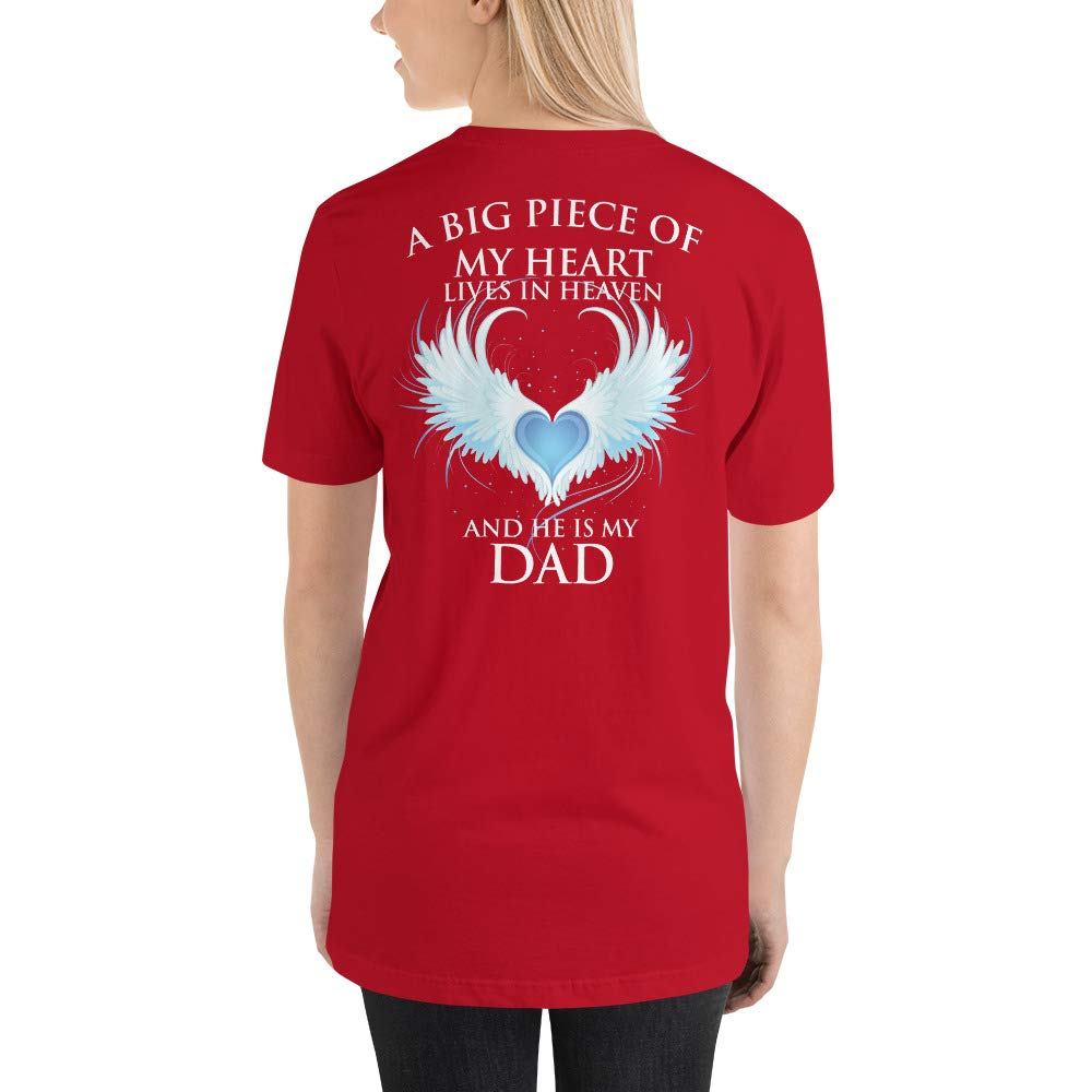 Short-Sleeve Unisex T-Shirt A Piece of My Heart Lives in Heaven Dad