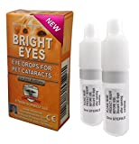 Carnosine Eye Drops For Dogs With Cataracts - Ethos Bright Eyes NAC Eye Drops for Pets (as Seen on UK National TV with Amazing Results!) NAC n acetyl carnosine eye drops are safe to use on all pets - Protect & Restore Your Pet's Vision with the Best Eye C