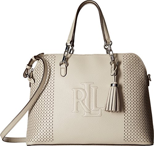 LAUREN Ralph Lauren Women's Dome Satchel Beige One Size