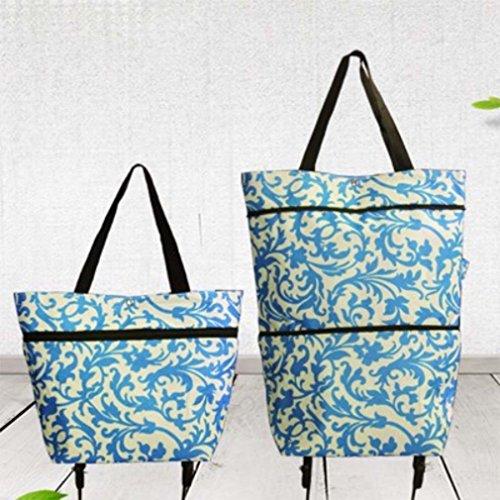 MOXIN Shopping Cart ?Handbag Shopping Bag Folding Tug Bag Trolley, 20l