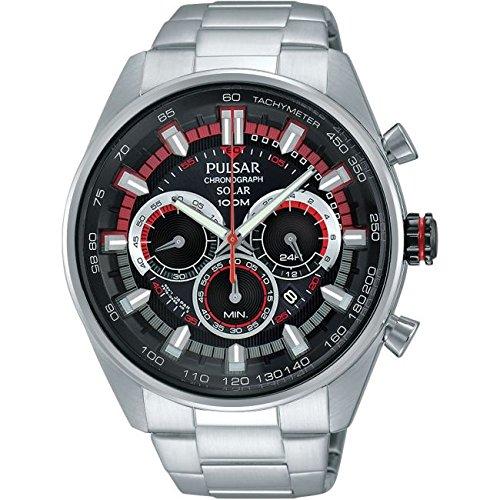 89485877f3e1 Pulsar PX5017X1 Men s Solar Sport Chronograph Watch  Amazon.es  Relojes