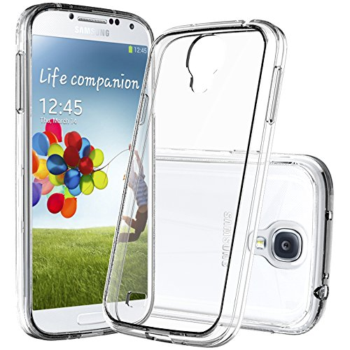 Samsung Galaxy S4 Case with HD Screen Protector, AnoKe [Scratch Resistant] Girls Boys Women Men Hard Cover TPU Bumper Ultra Thin Slim Fit Protective Phone Cases for Samsung Galaxy S4 TM Crystal Clear