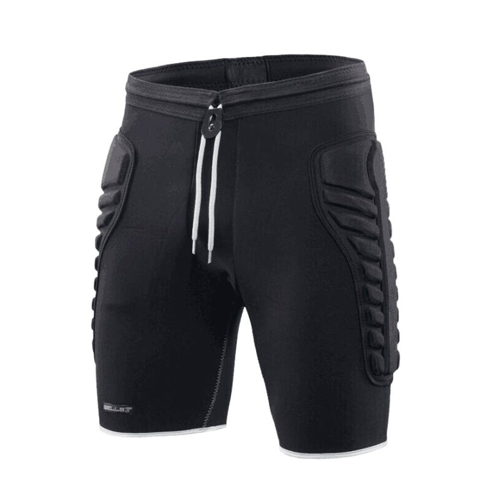 TUOY Mens Tri-Flex Padded Compression Shorts Protection Undershort Best for Basketball,Football,Hockey,Cycling and Contact Sports(X-large Size)