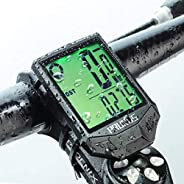 PRUNUS IP66 Waterproof Wireless Cyclocomputer Multifunctional Bike Computer with LCD Backlight Display Cycling