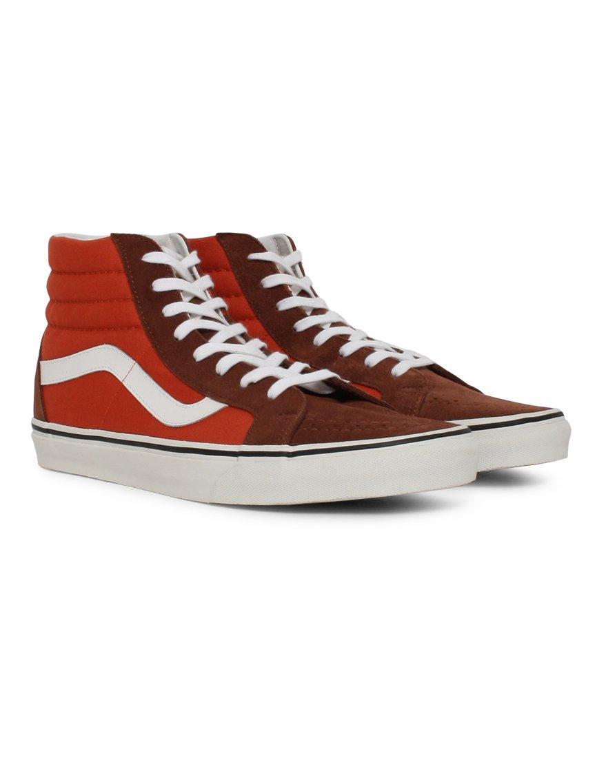 Vans Unisex Sk8-Hi Slim Women's Skate Shoe B019KVXPOW 13.5 B(M) US Women / 12 D(M) US Men|(2 Tone) Cappuccino/Burnt Ochre