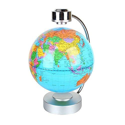 Globes World, 8'' Magnetic Floating Globe With LED Light - Anti-gravity Levitation Rotating Planet Earth Globe Stylish Home Office Desktop Display Decoration (Blue) by Yosoo (Image #2)
