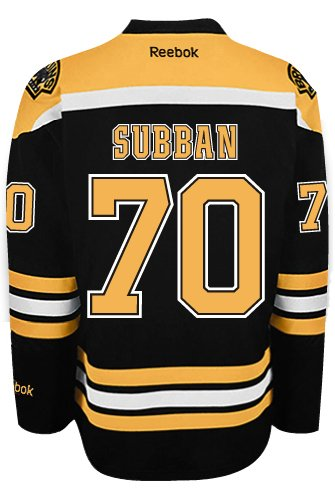 wholesale dealer e4121 ca9f0 Malcolm Subban Boston Bruins NHL Home Reebok Premier Hockey ...