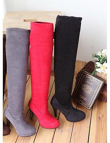marron Femme pour Chaussures à Bottes Talon Rond Slouch Stiletto Femme Citior Chaussons Bout Bottes pour H6qwxqAY4