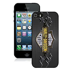 Beautiful Designed Cover Case For iPhone 5S With harley davidson logo Black Phone Case