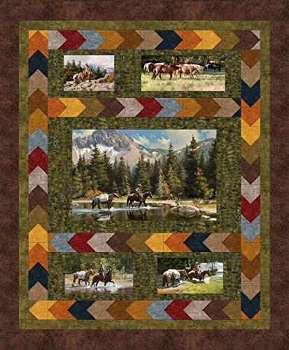 Tom Browning High Country Crossing Quilt Kit Maywood Studio