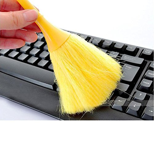 Ankola Cleaning Brush, Multi-Function Mini Keyboard Vehicle Anti-Static Dust Brush Desktop Sweeper Cleaning Home Dusting Brush (Yellow, (Glass Piano Dish)