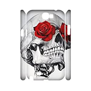skull 3D-Printed ZLB816281 Custom 3D Phone Case for Samsung Galaxy Note 2 N7100