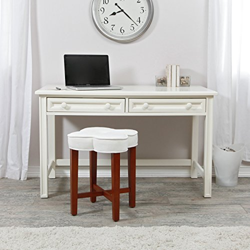 Durable Wood Construction with Classic Lines Belham Living Casey Writing Desk - White - Classic Writing Desk