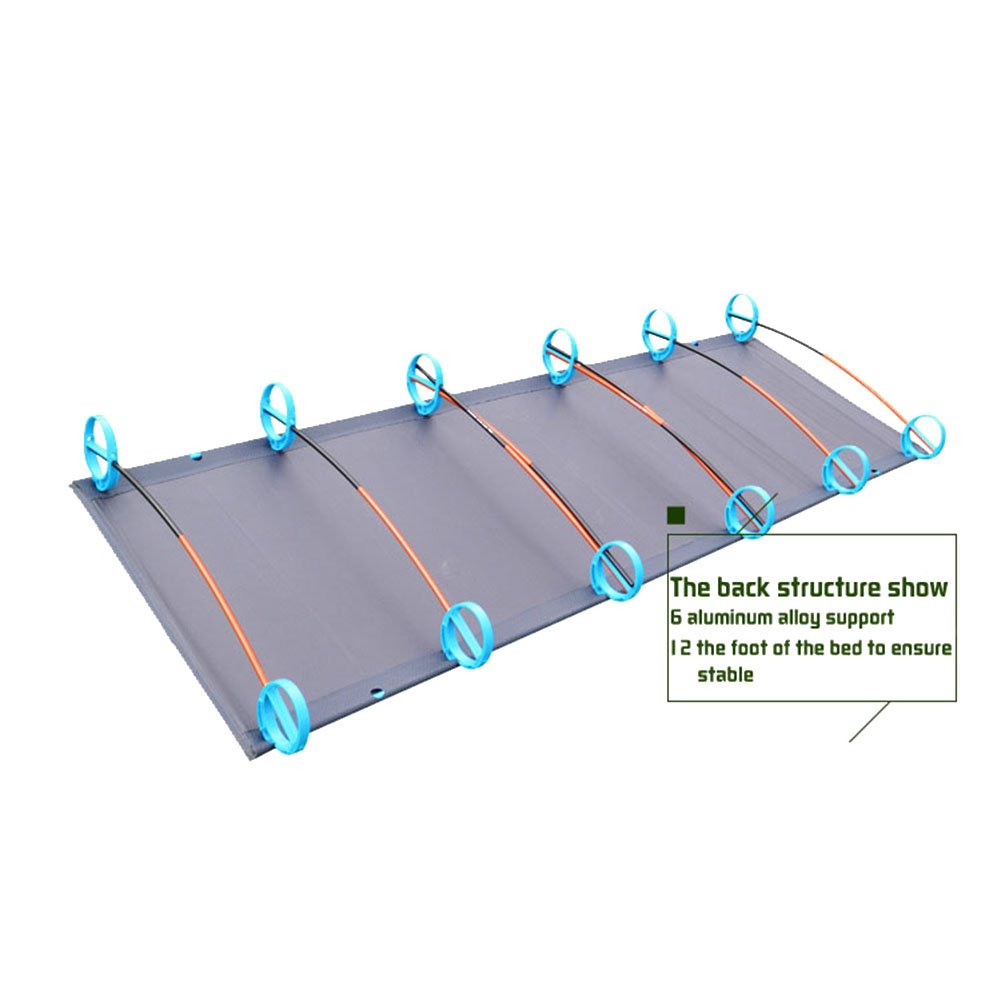 ONEGOL Camping Cots,Portable Outdoor Folding Bed Hiking Mountaineering with Storage Bag,for Adult or Kids Aluminium Alloy Military Folding Cot Withstand 330lb for Travel Base Camp