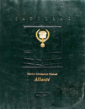 1991-1992 Cadillac Allante Repair Shop Manual Original