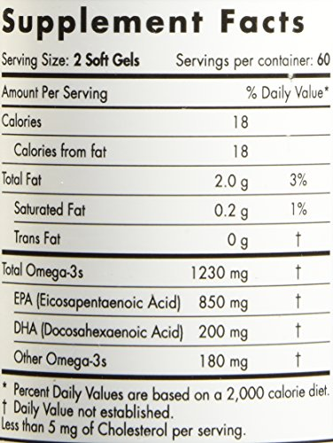 Nordic Naturals Pro - ProEPA, Promotes Cardiovascular Health, Supports Gastrointestinal Health and a Healthy Mood - Lemon Flavored 120 Soft Gels by Nordic Naturals (Image #2)'