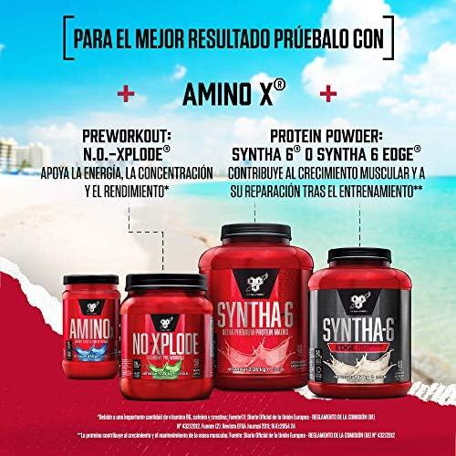 BSN Nutrition Amino X, Suplementos Deportivos BCAA Polvo con Aminoacidos Esenciales y Vitamina D, Aminoacidos BCAA para Musculacion, Sandía, 70 ...