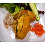 Miss Sallys Raw Jalapeno Pepper Stuffed with Crabmeat Appetizer, 3 Pound -- 6 per case.