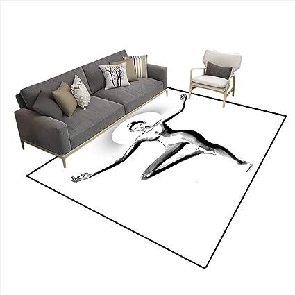 Amazon.com: Girls Bedroom Rug Yoga 6x8 (W180cm x L240cm ...