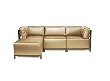 Superieur Howard Elliott K924T 771 Axis Sectional Sofa With Titanium Frame, Luxe  Gold, 4