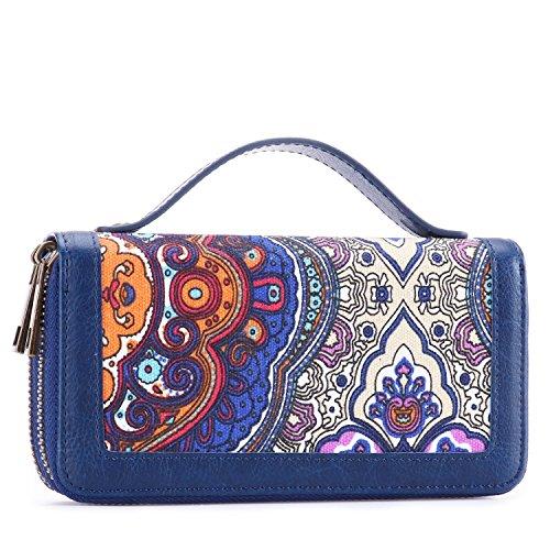 Clutch Wallet Zip Bag Card Holder (Blue) - 4