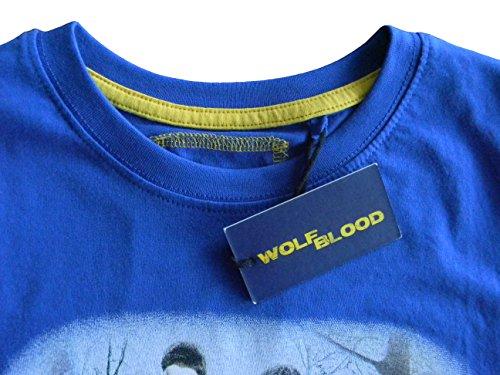 shirt 134 140 Wölf Enfant bleu 122 Junior Acts taille Pour Cm T Courtes 152 146 Wolfblood zdf À Manches 128 OtwxH