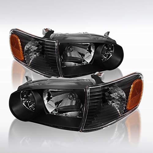 (Autozensation Toyota Corolla JDM Black Headlights Corner Signal Lamp Amber Reflector)