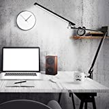ROZKY Drafting Table Lamp,Metal Architect LED Desk Lamp, Swing Arm Task Lamp with Clamp,Eye-care Dimmable Office Light with 5 Color 5 Brightness,Touch Control,Memory Function,12W,Black