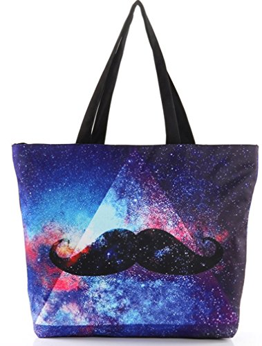 Women's Moustache Printing Fashion Bags Shopping THENICE Shoulder Retro aq00dgw