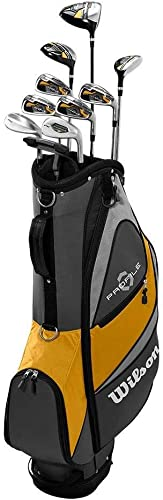 Wilson Profile XD Men s Flex Graphite Steel Golf Club Stand Bag Set, Gold