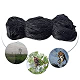 Vinmax 9.8 X 65.6 Feet (3 X 20 meters) Anti Bird Netting Nylon Garden Net Bird exclusion netting 1.57''x1.57'' Black Mesh Poultry Fish Net Separate Birds Squirrels Snake Bat from Fruit Tree Crops Plants