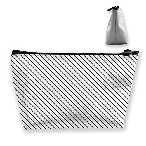 (Yunshm Diagonal Stripes Gray Customized Trapezoidal Handbag Ladies Waterproof for Carrying Travel)