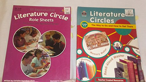 Literature Circles Teacher Resource Books, Lot of 2 Literature Circles Grades 4-8 ~ Way to Go and How to Get There, 25 Reproducible Role Sheets for Books 4 Reproducible Resource Book