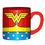 Silver Buffalo WW0132Z DC Comics Wonder Woman Uniform Costume Ceramic Coffee Mug 14 oz, Laser Print