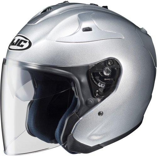 HJC Metallic FG-JET 3/4 Open Face Motorcycle Helmet - Silver / Medium