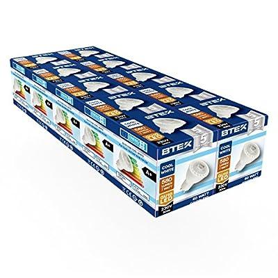 7w 50 580lm 230v Gu10 10pc Lumière Hz Ac 45w Led Froid Blanc Btek® UzjqVGSpML