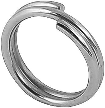 Split rings Stainless Steel Fishing Swivel Accessories Double Loop Useful