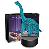Dinosaur Night Light 3D Kids Bedside Lamp 7 Colors Change Dinosaur Toys Optical Illusion Night Lights Ideas Birthday Gifts for Kids Baby Girls Boys (Diplodocus 01) For Sale